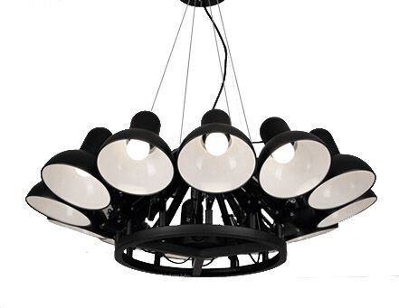 Lampa wisząca King Home Ragno industrial czarny  (5900168815360) 1