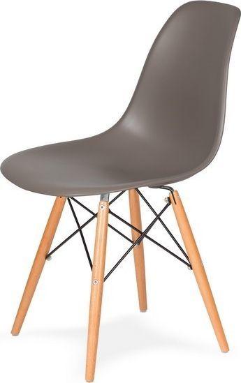 King Home Krzesło DSW WOOD popielaty szary.17 podstawa drewniana bukowa 1