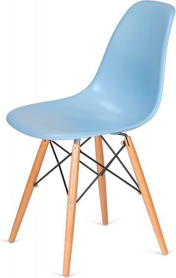King Home Krzesło DSW WOOD błękitne.11 - podstawa drewniana bukowa 1