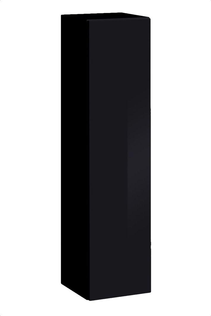 ASM Meble Szafka/witryna wisząca mała switch sw 2 czarny połysk (26 ZZ SW SW 2) - 31769 1
