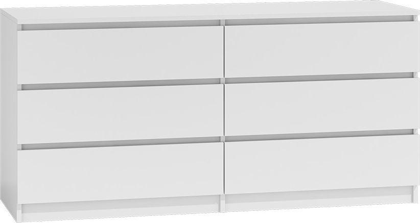 TopEshop Komoda 140cm 6 szuflad biały 1