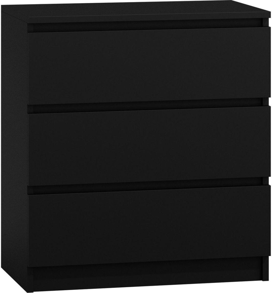 TopEshop Komoda szafka 3 szuflady m3 czerń 1