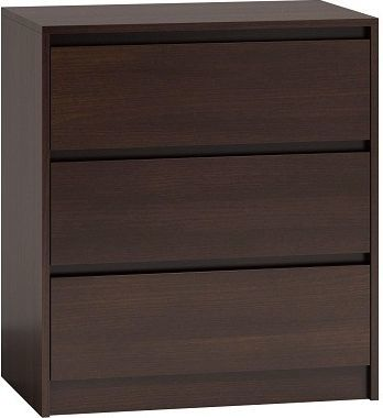 TopEshop Komoda szafka 3 szuflady wys 78cm karo k3 wenge 1