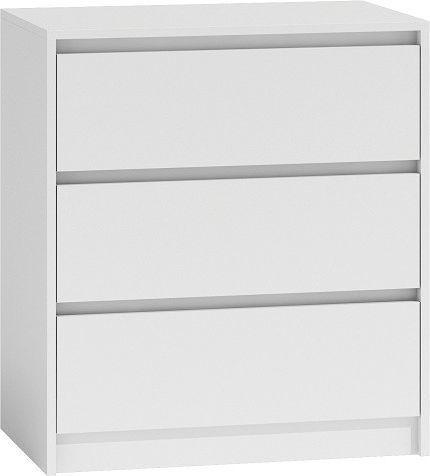 TopEshop Komoda szafka 3 szuflady wys 78cm karo k3 biel 1