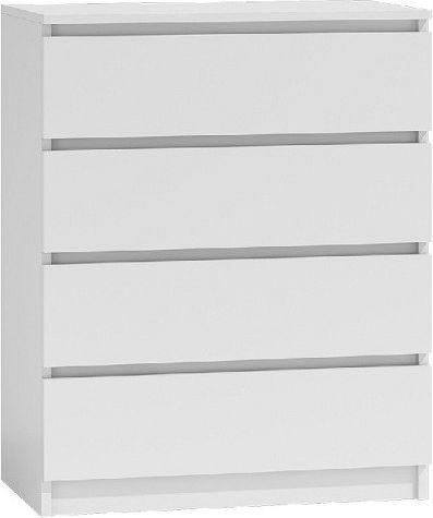 TopEshop Komoda szafka 4 szuflady biały 1