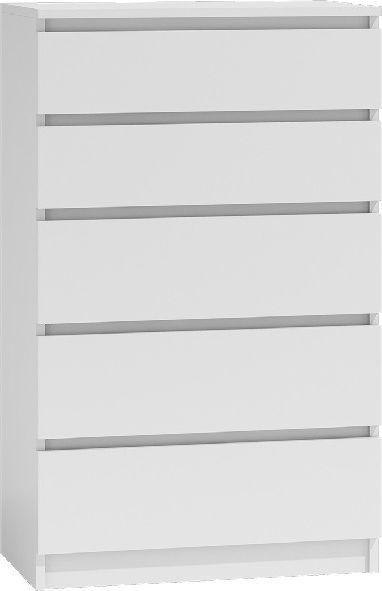 TopEshop Komoda szafka pojemna 5 szuflad malwa m5 biała 1