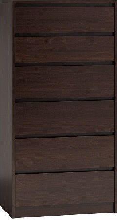 TopEshop Komoda szafka 6 szuflad wys 140cm karo k6 wenge 1
