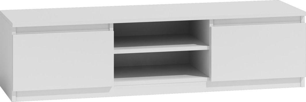 TopEshop Nowoczesny stolik szafka rtv lcd 140cm kolor biała 1