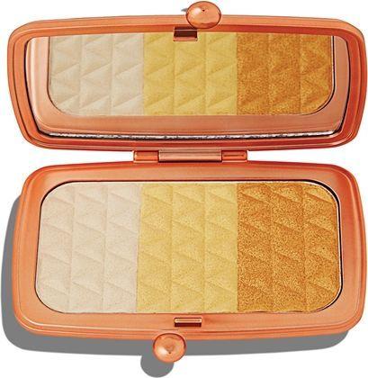 Makeup Revolution Renaissance Illuminate Highlighter Palette Paleta Rozświetlaczy Do Twarzy Gleaming Gold 14g 1