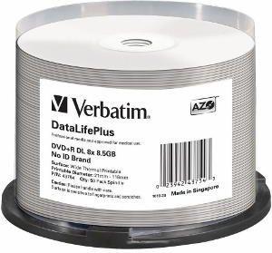 Verbatim DVD+R 8.5 GB 8x 50 sztuk (43754) 1