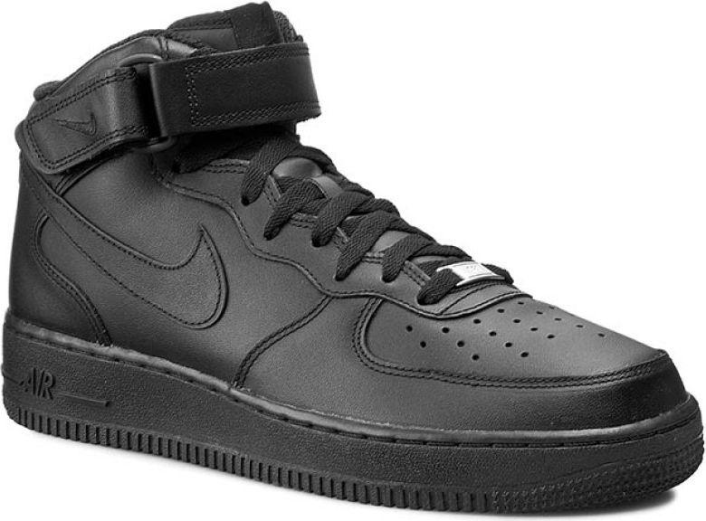 Nike buty męskie AIR FORCE 1 MID '07, czarne, roz. 45,5