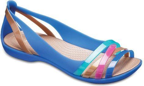 d2a490d97 Crocs Sandały damskie Isabella Huarache 2 Flat niebieskie r. 36/37  (204912-4HT) w Sklep-presto.pl