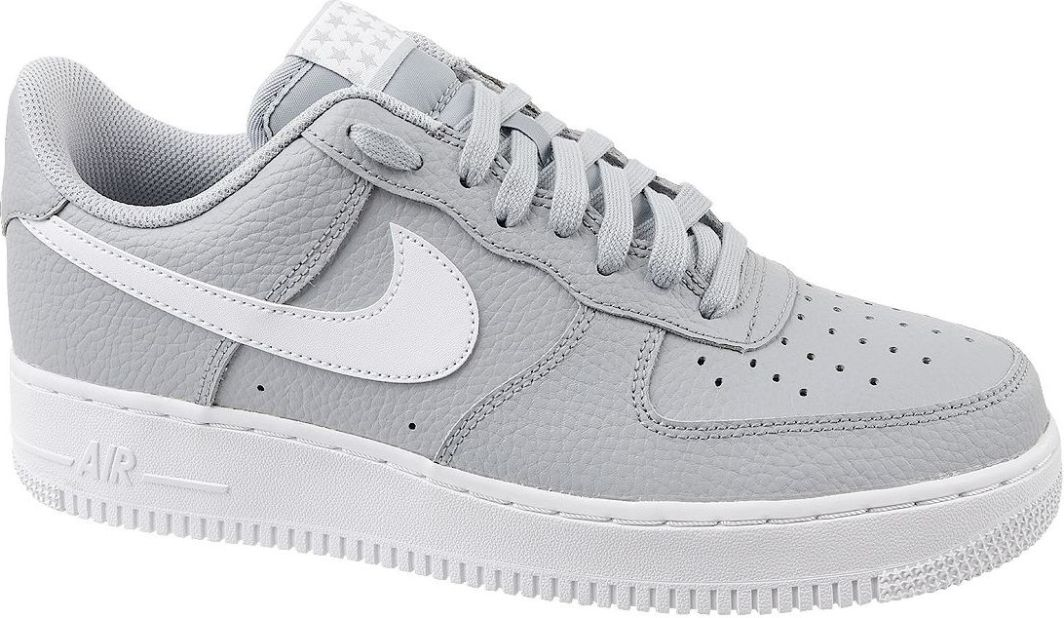 Trampki Nike Chłopience Air Force 1 Niska SzareCzarne Outlet