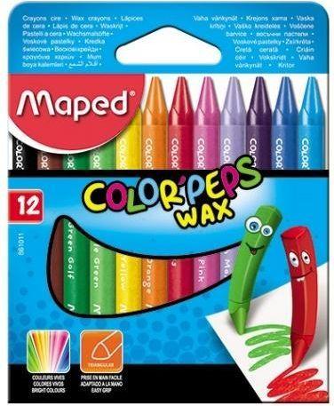 Maped Kredki Colorpeps świecowe 12 kolorów (861011) 1