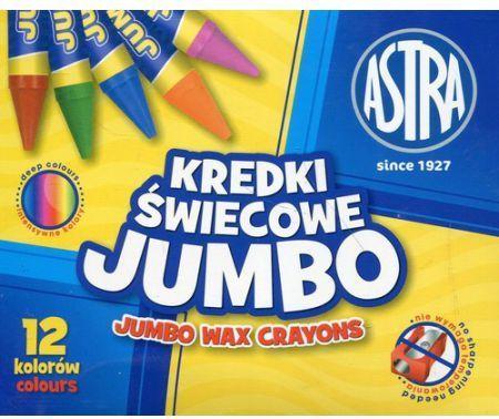 Astra Kredki świecowe Jumbo 12 kolorów 1