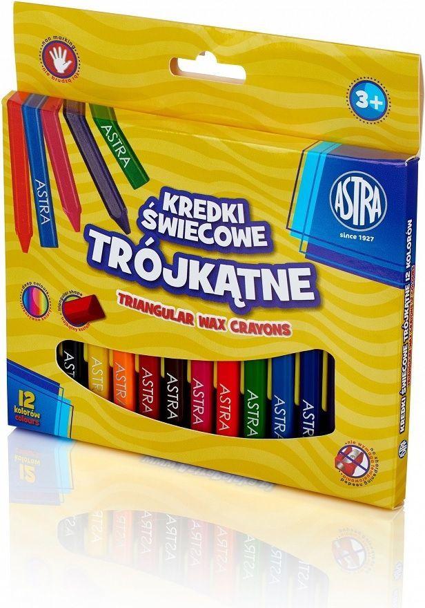 Astra Kredki świecowe trójkątne 12 kolorów 1