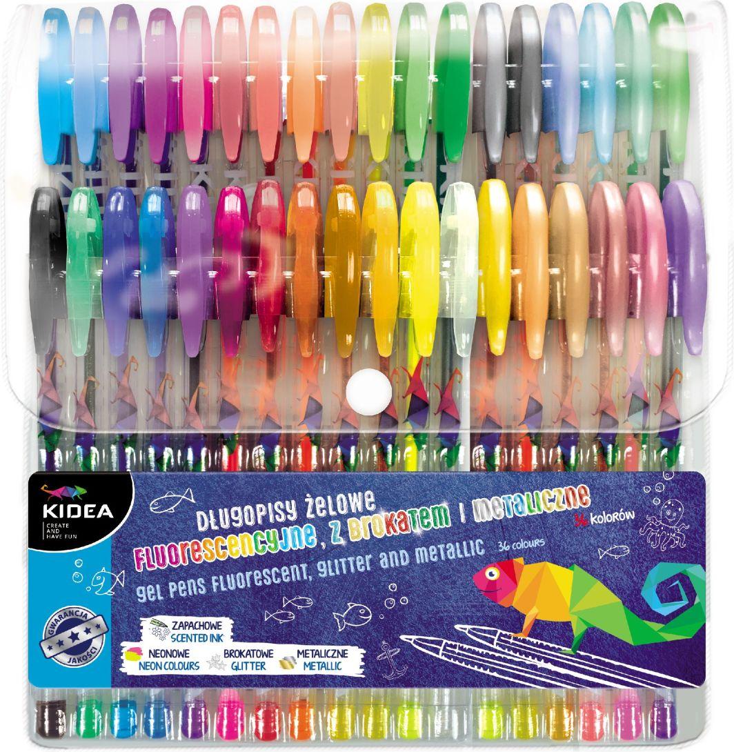 Derform Długopisy żelowe 36 kolory KIDEA 1
