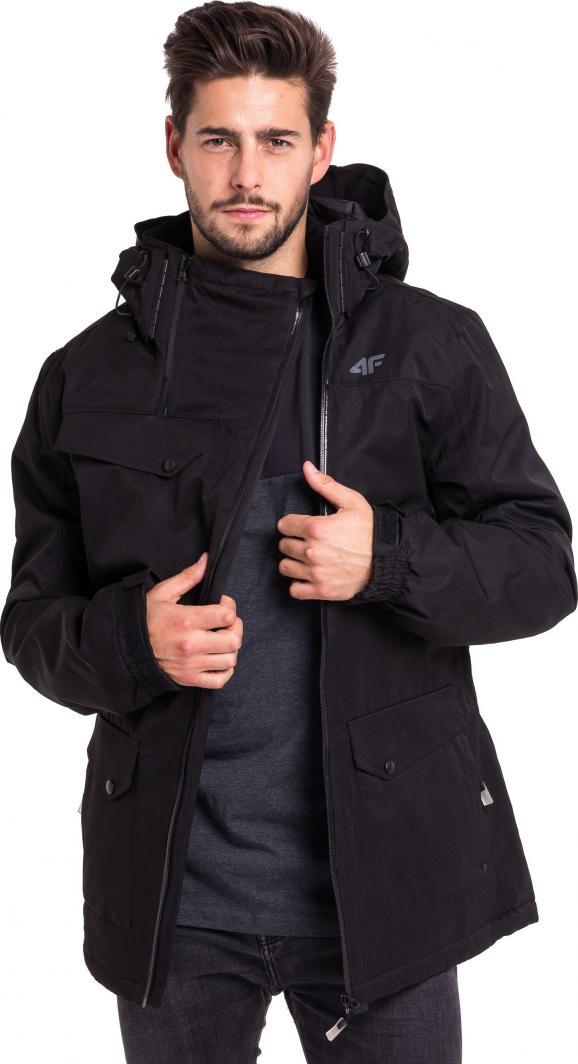 4f kurtka męska zimowa czarn