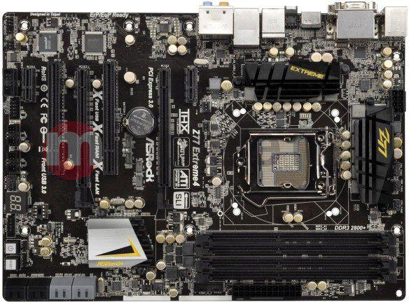 Płyta główna ASRock Z77 EXTREME4 Intel Z77 LGA 1155 (2xPCX/VGA/DZW/GLAN/SATA/RAID/DDR3/SLI/CROSSFIRE) (Z77 EXTREME4 1
