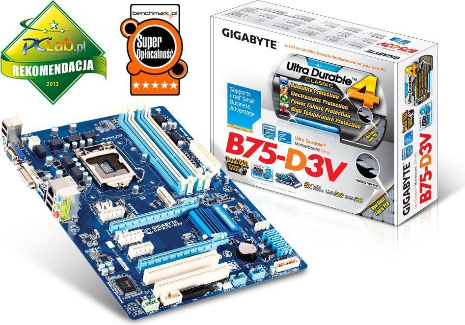 Płyta główna Gigabyte GA-B75-D3V, B75, DualDDR3-1600, SATA3, 4xSATA2, DVI, D-SUB, GBLAN, ATX (GA-B75-D3V) 1