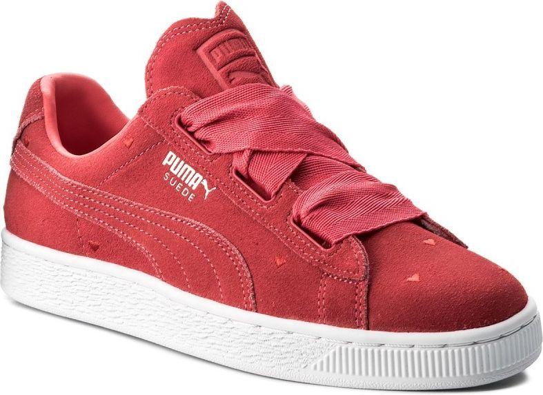 Puma Buty juniorskie Suede Heart Jr czerwone r. 38.5 (365135 01) ID produktu: 4587474
