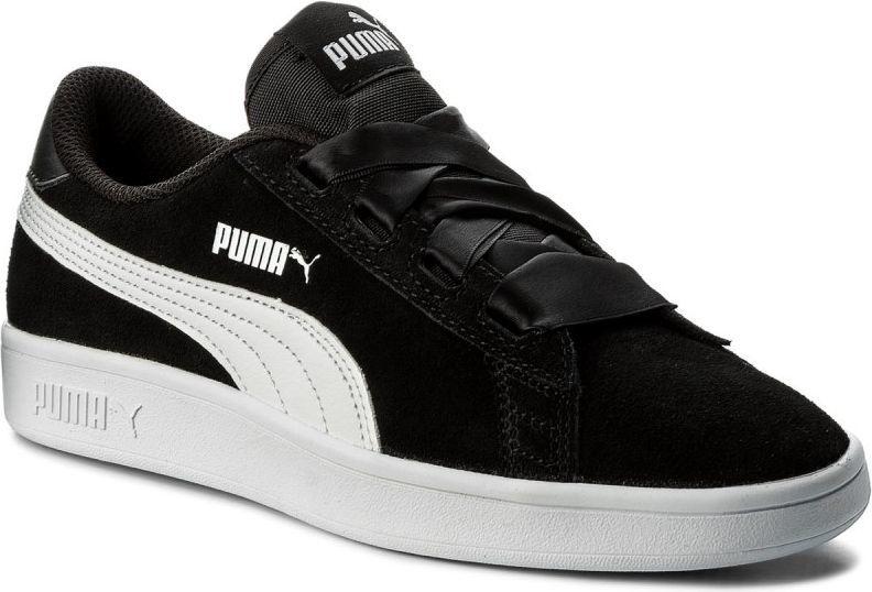 Puma Buty dziecięce Smash V2 Ribbon Jr czarne r. 39 (366003 01) ID produktu: 4587517