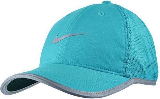 Nike Czapka z daszkiem damska M's Run Knit Mesh turkusowa (810132 418) ID produktu: 4588182