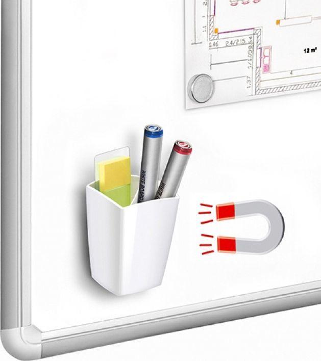PBS Connect Kubek magnetyczny na biurko pro gloss biały 95x75x75mm 1