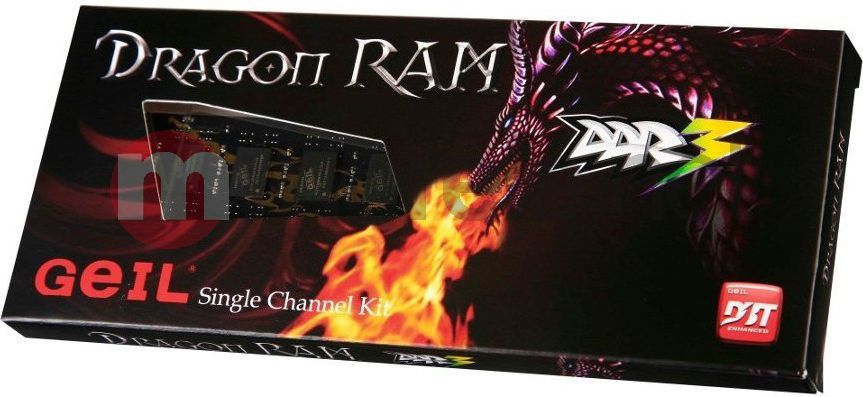 Pamięć GeIL Dragon, DDR3, 4 GB, 1333MHz, CL9 (GD34GB1333C9SC) 1