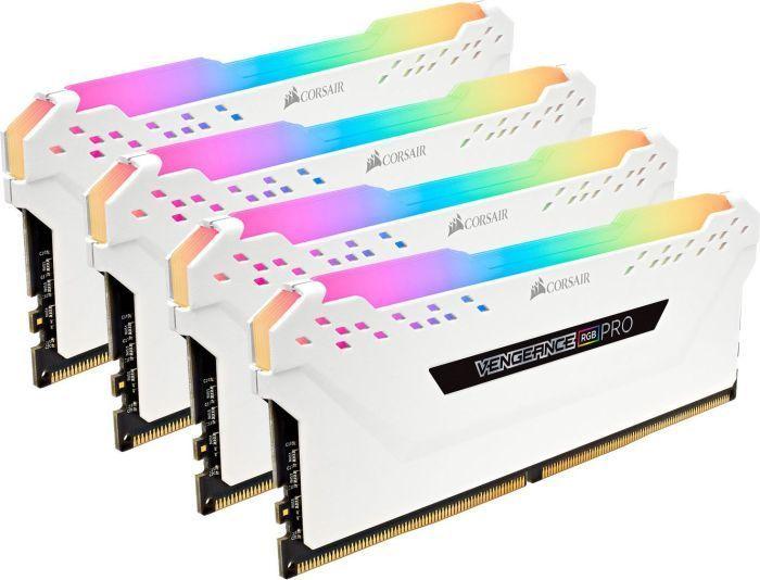 Pamięć Corsair Vengeance RGB PRO, DDR4, 32 GB, 3000MHz, CL15 (CMW32GX4M4C3000C15W) 1