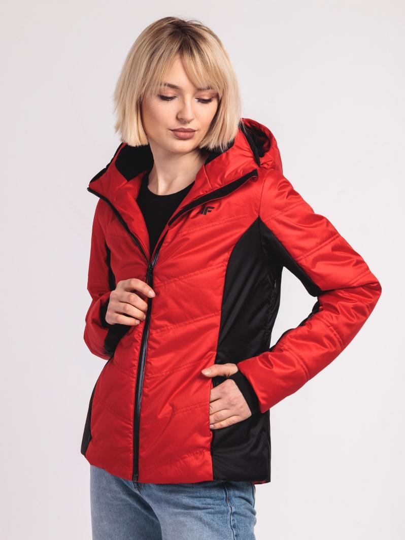 4f kurtki damskie czerwona