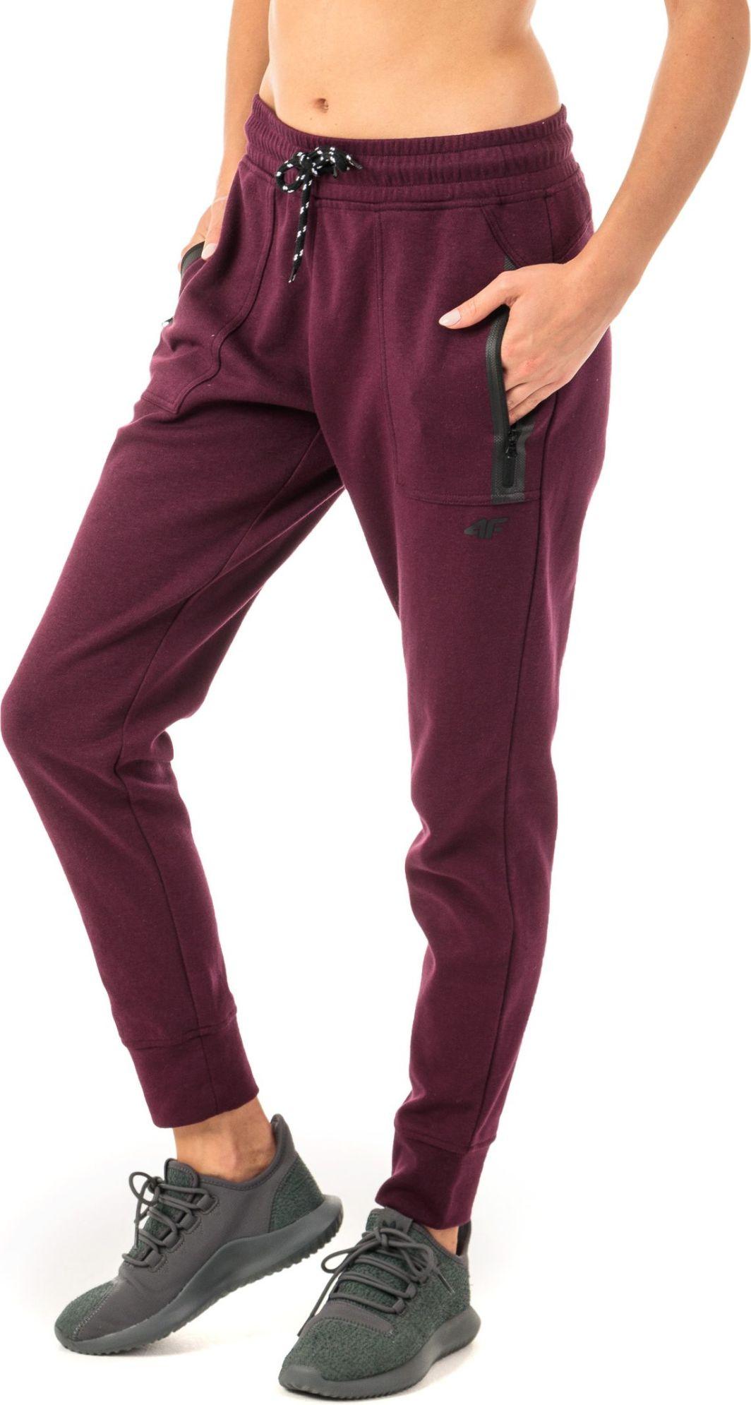 4f Spodnie damskie H4Z18 SPDD004 bordowe r. XL ID produktu: 4598464