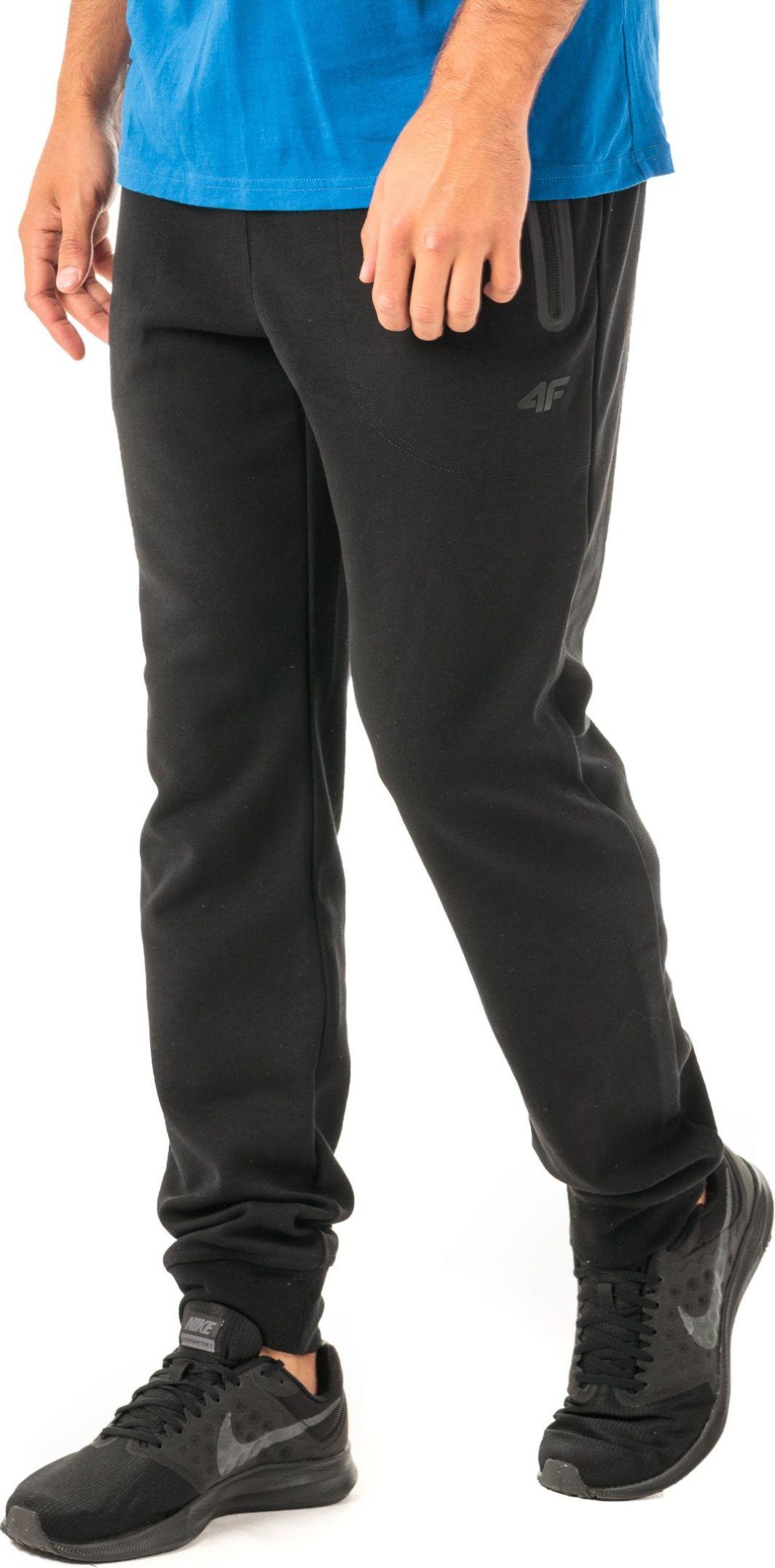 4f Spodnie męskie H4Z18 SPMD006 czarne r. XL ID produktu: 4598511