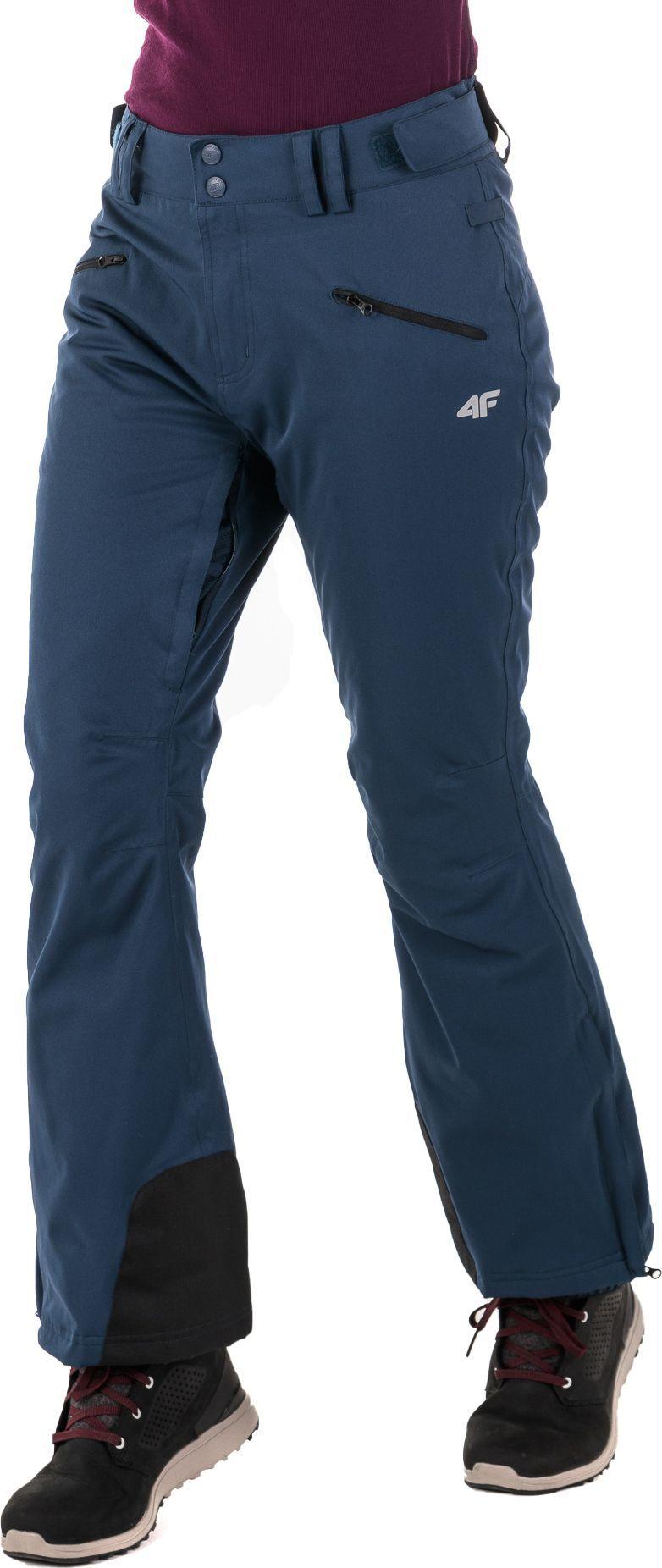 4f spodnie narciarskie damskie granatowy melanz