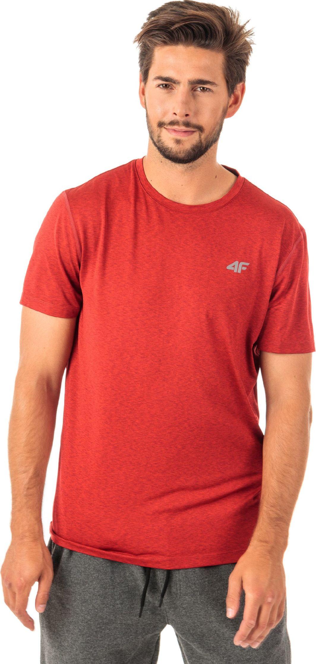 4f Koszulka męska H4Z18-TSMF001 czerwona r. M 1