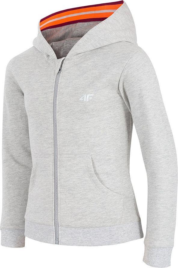 Outhorn Bluza dziewczęca z kapturem HJZ18 JBLD002 szary melanż r. 140 ID produktu: 4599395