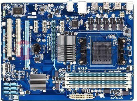 Płyta główna Gigabyte GA-970A-DS3 AMD 970 Socket AM3+ (2xPCX/DZW/GLAN/SATA3/USB3/RAID/DDR3) (GA-970A-DS3) 1