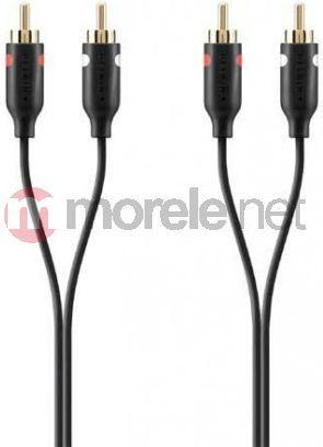 Kabel Belkin RCA (Cinch) x2 - RCA (Cinch) x2 1m czarny (F3Y098bf1M) 1