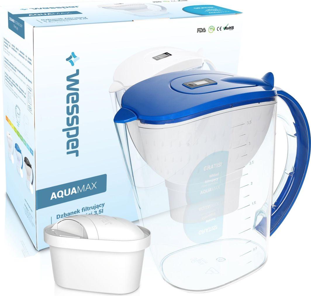 Dzbanek filtrujący Wessper niebieski dzbanek filtrujący AquaMax 3,5l + filtr 1