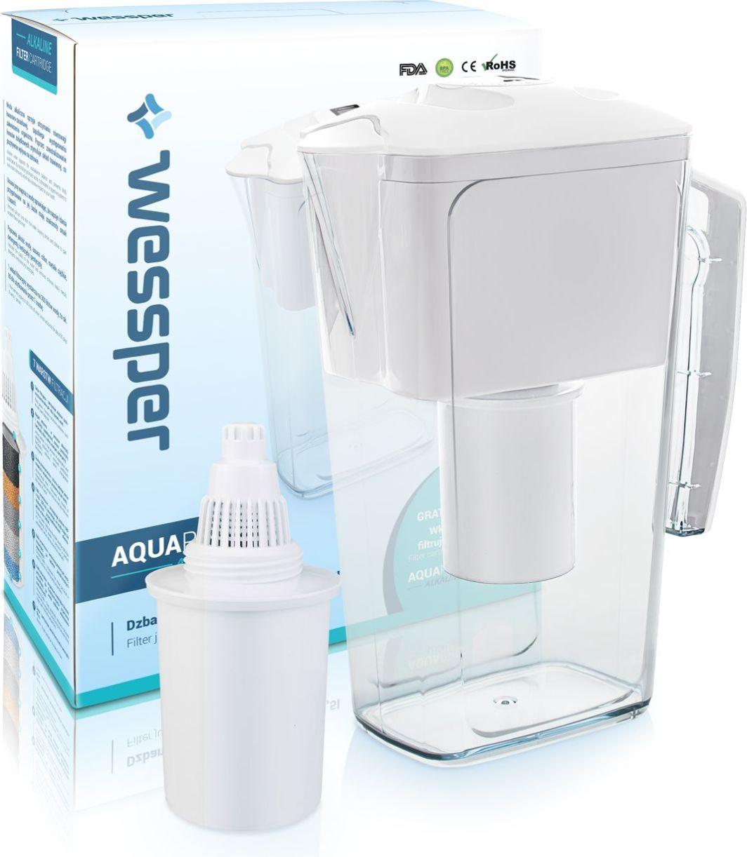 Dzbanek filtrujący Wessper biały dzbanek filtrujący AquaPro Alkaline 2,5l z filtrem alkalicznym 1