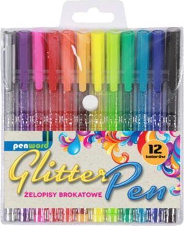 Polsirhurt Długopisy żelowe brokat 12kol 1