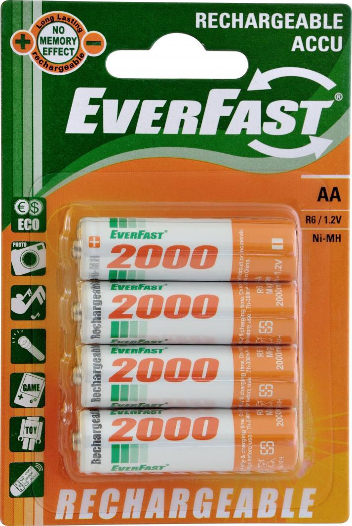 Everfast Akumulator AA / R6 2000mAh 4szt. 1