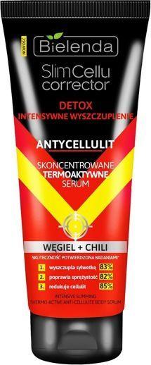 Bielenda Slim Cellu Corrector Detox Skoncentrowane termoaktywne serum Węgiel+Chili 250ml 1