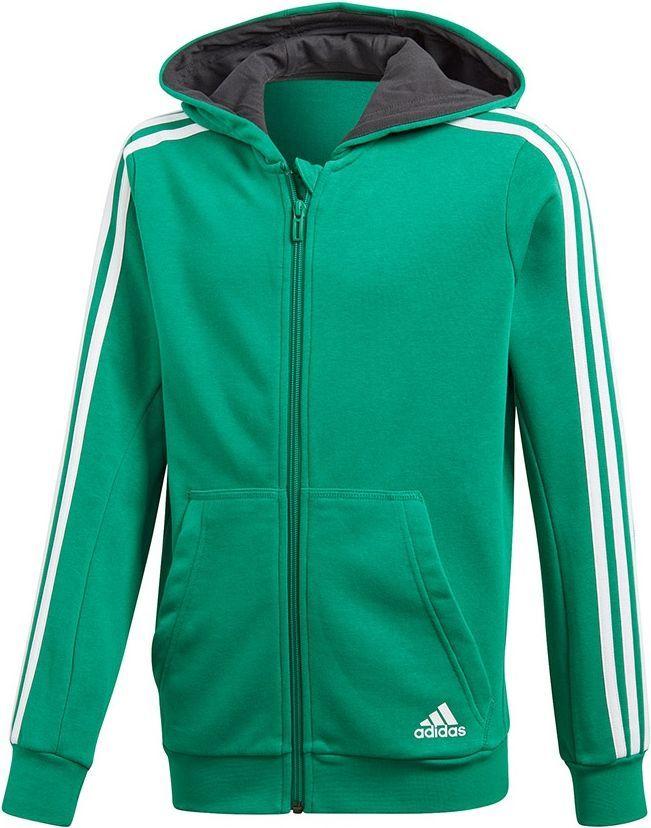 najlepsze ceny szeroki zasięg cienie Adidas Bluza dziecięca YB 3S FZ Hoodie zielona r. 176 cm (CF6587) ID  produktu: 4631483