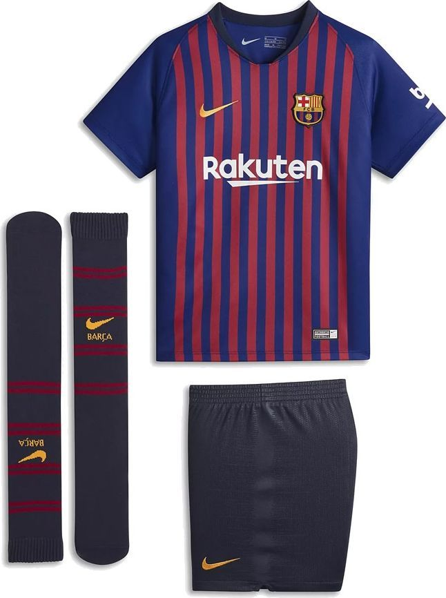 59bdd5d81 Nike Komplet piłkarski Breathe FC Barcelona Home niebieski r. L 116-122 cm  (894479-456) w Sklep-presto.pl