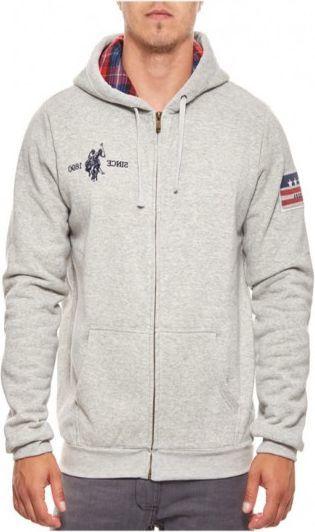 c0d4e6d695be U.S. Polo ASSN Bluza męska Hoody 52191-189 szara r. XL w Sklep-presto.pl