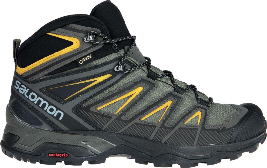 Trekkingi SALOMON X Ultra 3 Mid Gtx GORE TEX 401337 28 W0 Castor GrayGreen Sulphur
