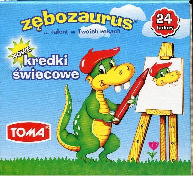 Toma Kredki świecowe Zębozaurus 24 kolory TO-558 1