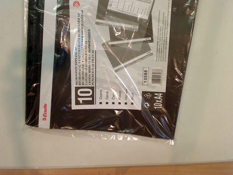 Esselte A4 PP czarny, 10 sztuk (13588) 1