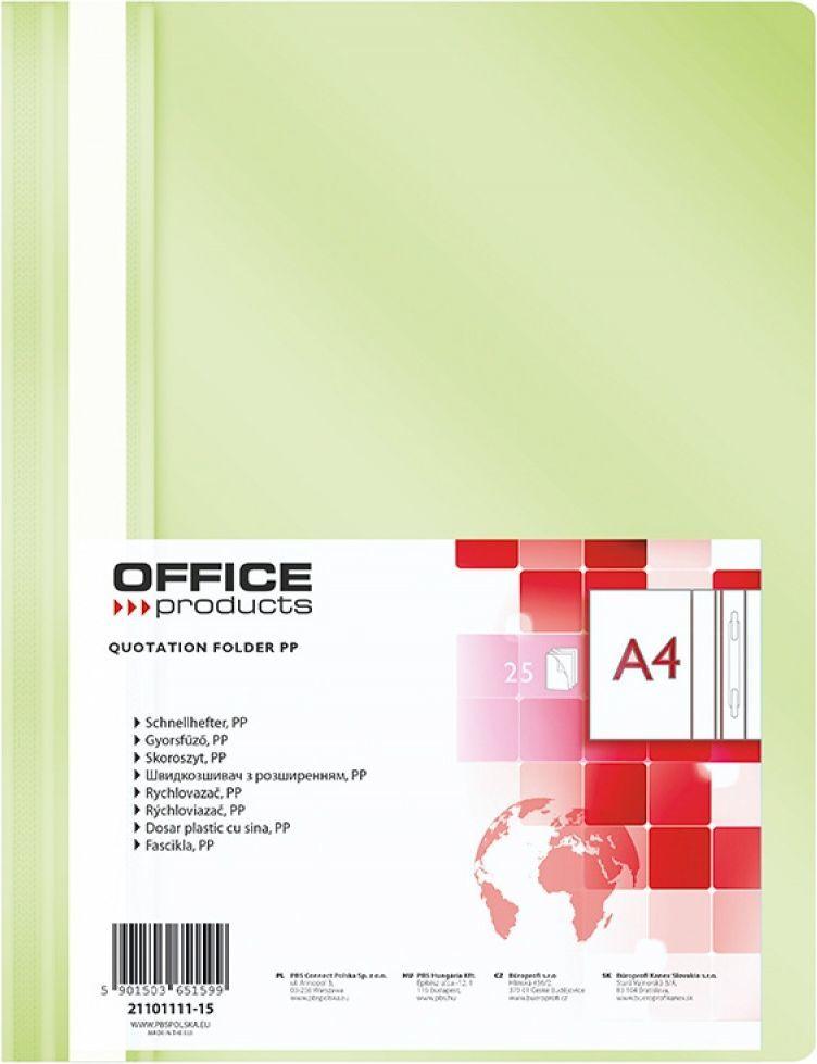 Office Products Skoroszyt jasnozielony 25szt 1